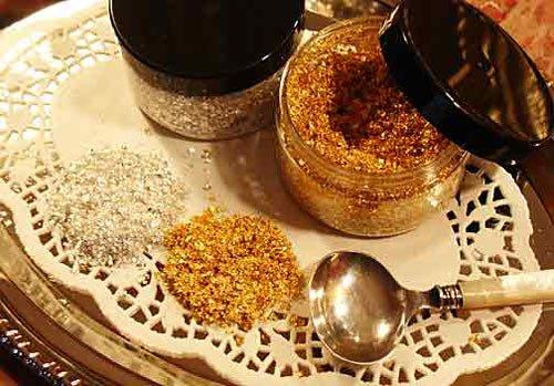 Metale-comestibile---aur,-argint