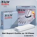 Set Suport Cutite cu 12 Piese Global G-888/KB/PL