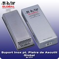 Suport Inox pentru Piatra de Ascutit, 21 x 7cm - Global, Japonia
