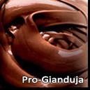 Pro-Gianduja este o crema fina din ciocolata cu alune de padure macinate