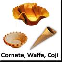 Cornete, Waffe, Coji din Biscuit si Foitaj