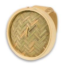 Capac pentru Cos din Bambus pentru Gatit la Abur, ø 17cm exterior, ø 15cm interior, 6.5 inch