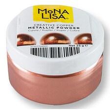 Colorant Alimentar Pudra, Cupru-Metalizat, Creative Powder Copper, 25g - Mona Lisa