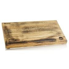 Planseta de Tocat din Stejar Afumat, cu Canelura pentru Sucuri, 24 x 40 x 2,5cm, Sir.BBQ - Chroma