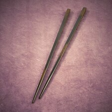 Betisoare (Chopsticks) Superfine, Mesteacan, Negre, 23,5cm, 1 pereche - Japonia
