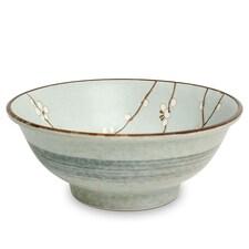 Bol din Portelan pentru Ramen, Hana Verde Deschis, 1300ml, Ø22cm, a 9cm - Japonia
