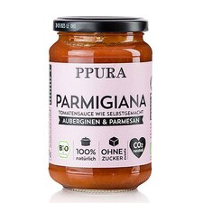 Sos Parmigiana, cu Vinete, Tomate si Parmezan, BIO, 340g - PPURA
