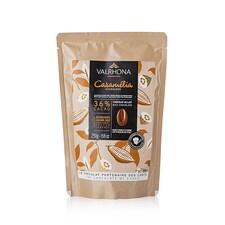 Ciocolata Couverture cu Lapte, 36% Cacao, Caramelia, pastile, 250g - VALRHONA