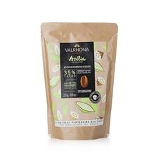 Ciocolata Couverture cu Lapte si Alune de Padure, 35% Cacao, Azélia, pastile, 250g - VALRHONA