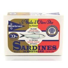 Sardele in Ulei de Masline Extravirgin cu Ardei Iute, BIO, Premium, 115g - Kerbriant
