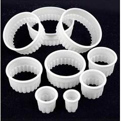Cercuri de Bucatarie din Plastic, Ondulate, ø 2/3/4/5/6/7/8/9/10cm, Set 9 buc. - de Buyer, Franta