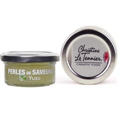 Caviar din Yuzu, Sfere Ø 5mm, 50 g - Les Perles de Saveurs®