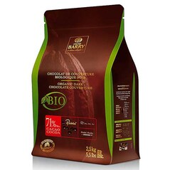 Ciocolata Couverture Neagra, callets, 71% Cacao, BIO, 2,5 Kg - CACAO BARRY