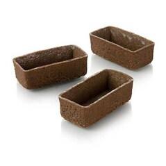 Coji Dulci pentru Tarte Dreptunghiulare, 5,3 x 2,6cm, H 1,7cm, Aluat Fraged cu Ciocolata, Filigrano, 150 bucati - HUG