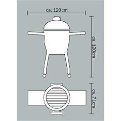 Gratar Ceramic cu Carbuni, Grill Set CLASSIC Black