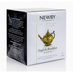 Ceai Negru English Breakfast, Silken Pyramids, 15 buc, 37,5 g - Newby
