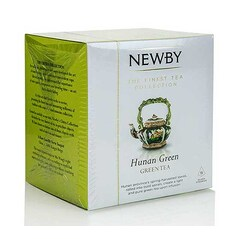 Ceai Verde Hunan Green, Silken Pyramids, 15 buc, 37,5 g - Newby