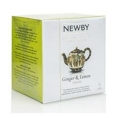 Ceai de Ghimbir & Lamaie, Silken Pyramids, 15 buc, 37,5 g - Newby