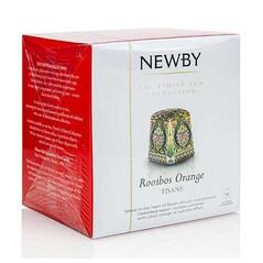 Ceai de Rooibos & Portocale, Silken Pyramids, 15 buc, 37,5 g - Newby