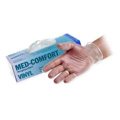 Manusi de Unica Folosinta, din Vinil, Transparente, dimensiunea M, Pudrate, set 100 buc - Med-Comfort