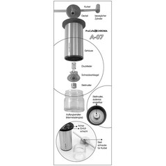 Rasnita pentru condimente, ProCuTe Titanium A-07 - CHROMA