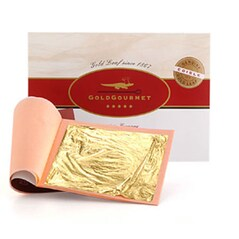 Foite de Aur Comestibil, 23 Kt, 80 x 80 mm, 25 Foite - GoldGourmet
