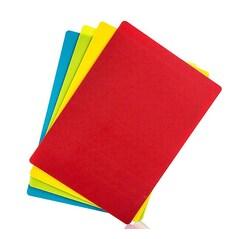Set 4 Folii de Tocat Flexibile (Cutting Mat): Galben, Albastru, Verde, Rosu, 45 x 35cm - Rösle