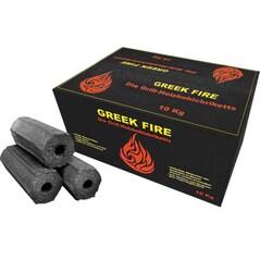 Brichete pentru Gratar, Lemn de Fag, 10Kg - Greek Fire