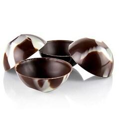 """Forme de Ciocolata - Mini Cups """"Coconut"""", Netede, Marmorate, ø 49mm, 168 buc., 1Kg"""