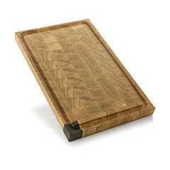 Planseta de Tocat cu Canelura, Stejar + Stejar Fosilizat, 44 x 28 x 3cm - Maigo