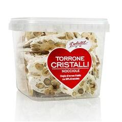 Torrone Italian Cristalli, cu Alune de Padure, Tableta Tare, Rupta in Bucati, 250g - Dolcital