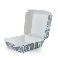 Burger-Box L, din Carton, 120x120x100mm, 400 buc.