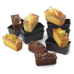 Forme de Chec (Cake) Individuale, EXOGLASS®, 90x40x40mm, 6buc. - Matfer
