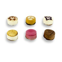 Petit Cheesecake, 6 Variante, 96 bucati, Congelate, 1,632Kg, - La Rose Noir