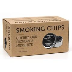 Chips-uri din Lemn pentru Pipa/Pistol de Afumare Polyscience, Set de 4 Esente