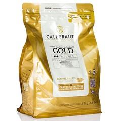 Ciocolata Couverture Alba cu Caramel, pastile, 30,4% Cacao, Gold, 2.5 Kg - Callebaut