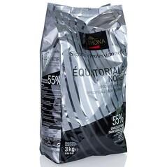 Ciocolata Couverture Neagra, Equatoriale Noir, pastile, 55% Cacao, 3Kg - VALRHONA