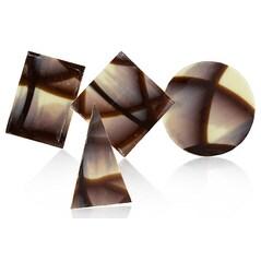 Decor Ciocolata Marmorata, Mozaic 4 Forme, Mona Lisa, 340buc., 960g - Callebaut