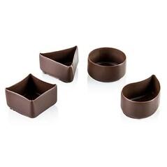 Forme de Ciocolata Neagra, 4 Modele Diferite, 40buc., 240g - Mona Lisa