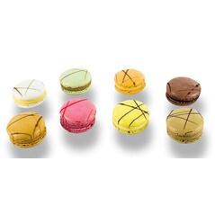 Macarons Asortate, Umplute, ø4cm, Congelate, 72buc., 1,08Kg - La Rose Noire