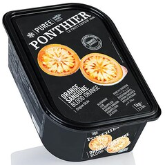 Piure de Portocale Rosii, Orange Sanguine, cu 10% Zahar, Congelat, 1 Kg - Ponthier