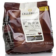 Ciocolata Couverture Neagra, pastile, 70,5% Cacao, 400g - Callebaut