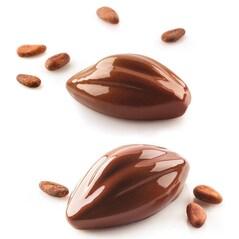 Folie Cu Forme De Pastai De Cacao, 102 x 57 x H42,5 mm, 6 Cavitati, SiliconFlex - Silikomart2
