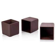 Cuburi de Ciocolata Neagra, pentru Umplut, 41 x 41mm, 40buc., 600g - Michel Cluizel