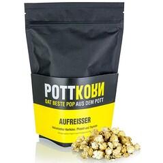 Popcorn (Floricele de Porumb) cu Branza Tare, Piersici si Cimbru, Aufreisser, 80g - PottKorn