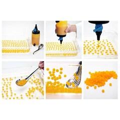 Reverse Kit Dispenser (Dozator de 0,5l + 3 Duiuri cu Ø6/8/10mm + Lingura Perforata) - 100% Chef, Spania2
