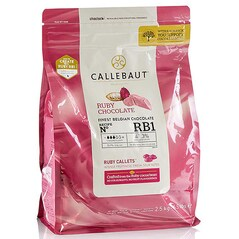 Ciocolata Couverture Roz, pastile, 47,3% Cacao, Ruby, 2.5 Kg - Callebaut