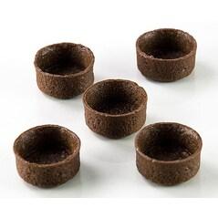 Coji pentru Mini-Tarte Desert, Rotunde, Ø 3,8cm, h1,8cm, Filigrano, Aluat Fraged cu Ciocolata, 200 buc. - Karl Zieres1