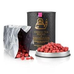 Choco Tea Rocks - Ceai Negru Glazurat cu Trandafiri si Vanilie, 100g - TartufLanghe