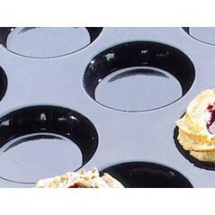 Folie cu Forme de Biscuiti Florentini/Quiches FLEXIPAN®, 60 x 40cm, 40 Amprente de Ø 5,9 x h 1,3cm - Demarle, Franta